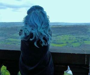 blue hair, girl, and alternative image