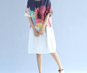 etsy, short sleeve, and white dress image