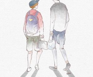 boy, boys, and couple image