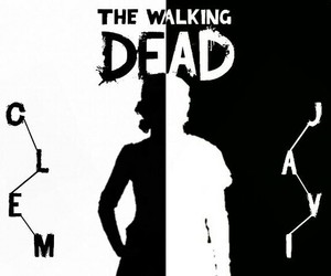 clementine, game, and the walking dead image