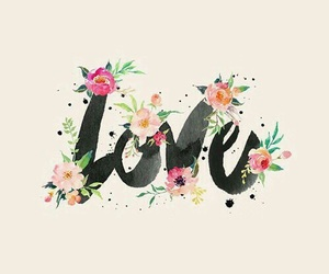 love, wallpaper, and flowers image
