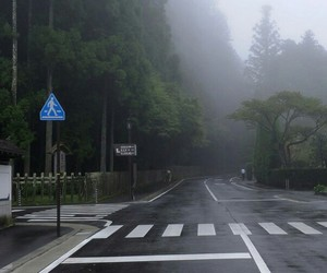 fog, road, and street image