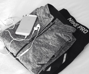 nike, iphone, and fitness image