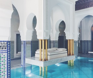 gold, marble, and marrakech image