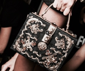 fashion, purse, and black image