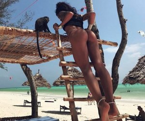 beach, summer, and squats image