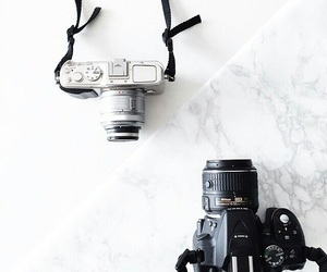 camera, photography, and white image