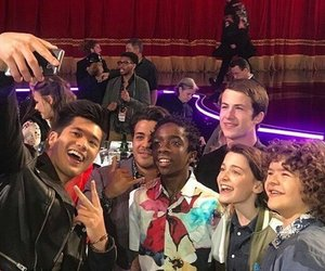 stranger things, 13 reasons why, and cast image