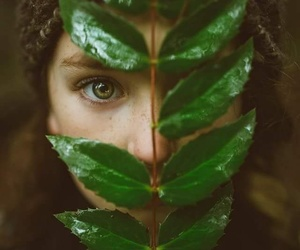face, girl, and green image
