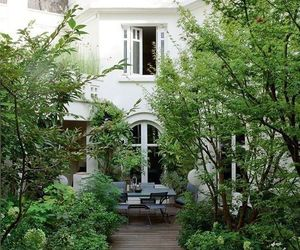 garden, house, and white image