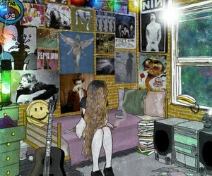 grunge, nirvana, and poster image