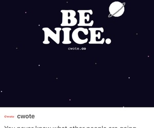 be nice, quotes, and skam image