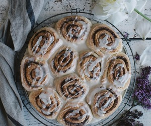 cinnamon rolls, gluten-free, and food image