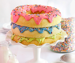 cake, food, and donuts image