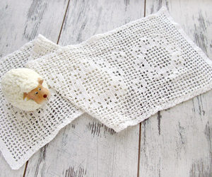 etsy, vintage doily, and sheep image