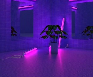 purple, neon, and aesthetic image