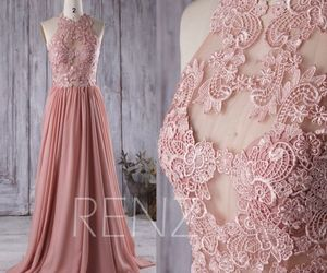 etsy, a line dress, and blush dress image