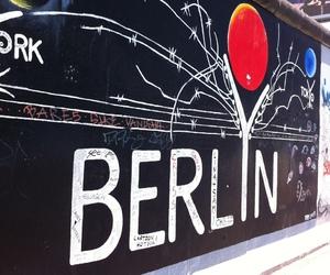 berlin, berlin wall, and street art image
