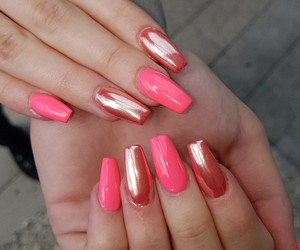 chrome, nails, and pink image