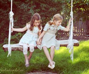 children, kids, and swing image