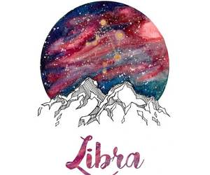 Libra, zodiac, and stars image