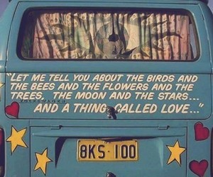 hippie, peace, and love image