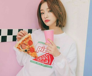 model, pizza, and style image