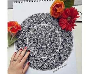 art, nails, and pencil image