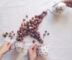 flowers and tea image