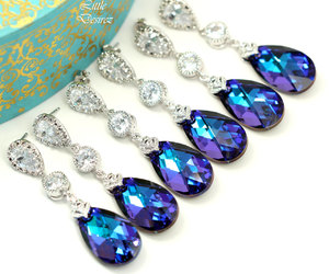 etsy, cubic zirconia, and bridesmaid gift image