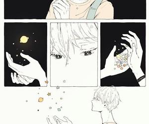 art, stars, and anime boy image