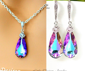 bridal necklace, teardrop pendant, and etsy image