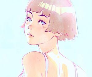 anime girl, pintura, and desenho image