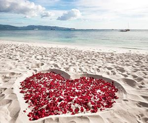beach and heart image