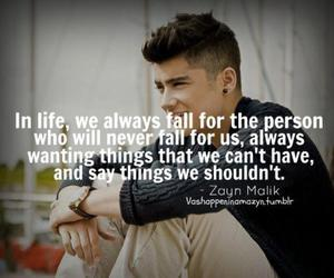 zayn malik, quote, and one direction image