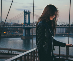 girl, beautiful, and city image
