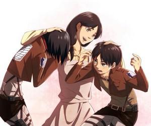 shingeki no kyojin, mikasa, and anime image