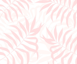 leaves, art, and pink image