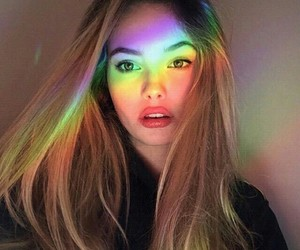pretty, rainbow, and tumblr girl image