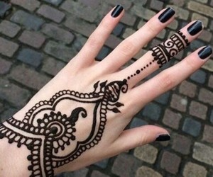 hand, tattos, and nails image