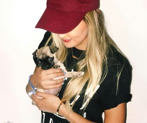 blonde girl, laurdiy, and puppy image