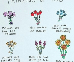 mother, flowers, and thinking of you image