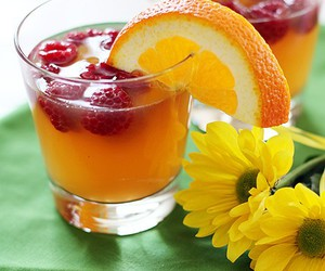 drinks, peach, and glasses image