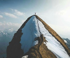mountain, scenery, and snow image