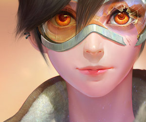 art, overwatch, and tracer image