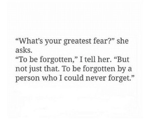 fears, feelings, and forget image