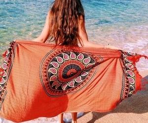 beach, summer, and orange image