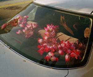 flowers, car, and aesthetic image