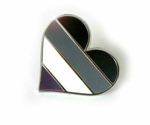 aesthetic, pin, and asexual image