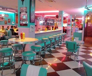 50s, diner, and retro image